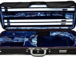 Gewa Strato de Luxe Oblong Viola Case, Black and Dark Blue